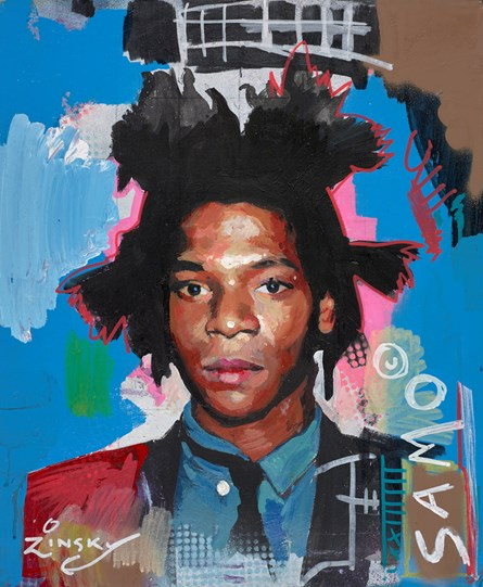 Basquiat by Zinsky - Original Painting on Stretched Canvas